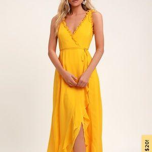 Lulus Juliet high low maxi wrap dress
